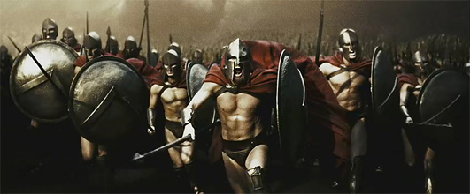 A scene from the movie 300