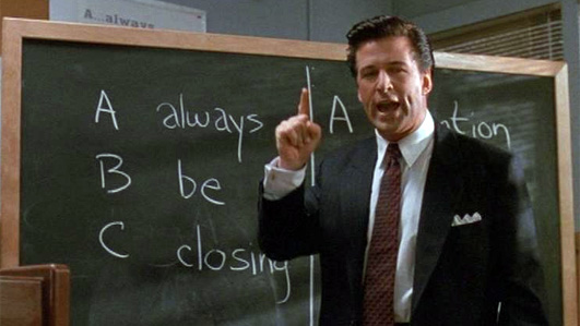 Alec Baldwin says 'Always. Be. Closing.'